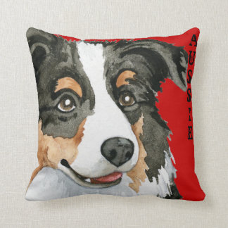 Aussie Color Block Throw Pillow