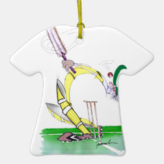 aussie cricket eye on the ball, tony fernandes Double-Sided T-Shirt ceramic christmas ornament