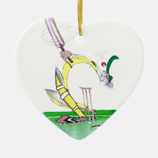 aussie cricket eye on the ball, tony fernandes ceramic heart decoration