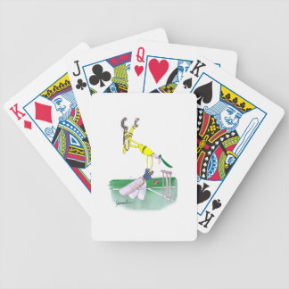 aussie cricketer opening bat, tony fernandes bicycle playing cards