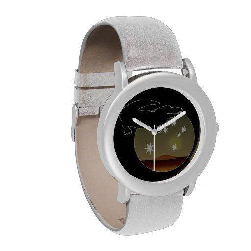 Aussie Croc Icon Glitter Watch