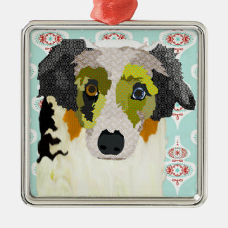 Aussie Dog Christmas Ornament