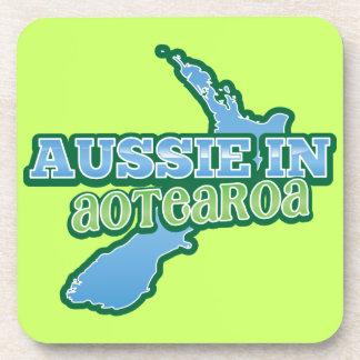 Aussie en Aotearoa NUEVA ZELANDA Posavasos De Bebida
