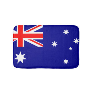 Aussie flag bathroom mat