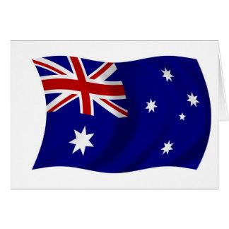 Aussie flag greeting cards