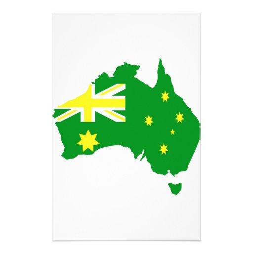 Aussie Flag Map Stationery Design
