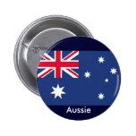 Aussie flag pinback buttons