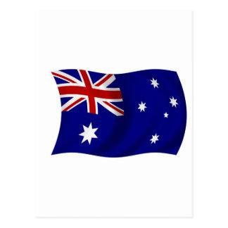 Aussie flag postcard