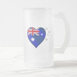 Aussie heart of Australia Aussie Oi Love Mug