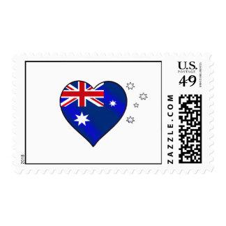 Aussie heart of Australia Aussie Oi Love Stamps