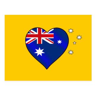 Aussie heart of Australia Aussie Oi Love Postcard