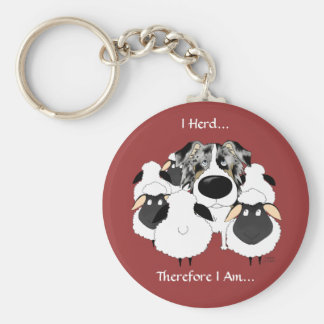 Aussie - I Herd Therefore I Am Key Chains