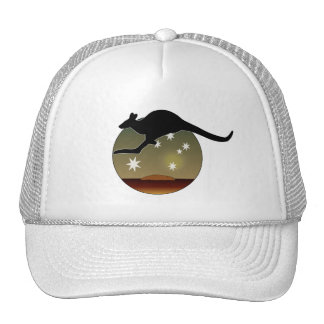 Aussie Kangaroo Cap Trucker Hat