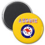 Aussie Kangaroo flag emblem logo gifts Fridge Magnet