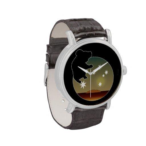 Aussie Koala Icon Vintage Leather Strap Watch