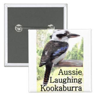 Aussie Laughing Kookaburra Button