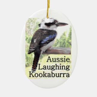 Aussie Laughing Kookaburra Ceramic Ornament