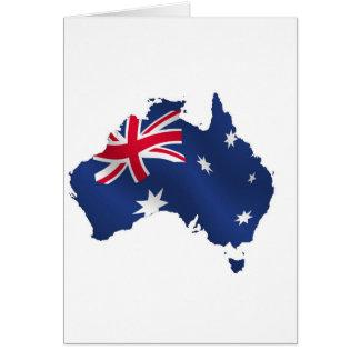 Aussie map flag card