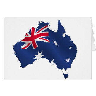 Aussie map flag card