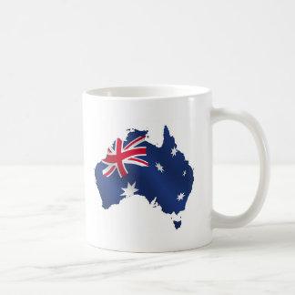 Aussie map flag mugs