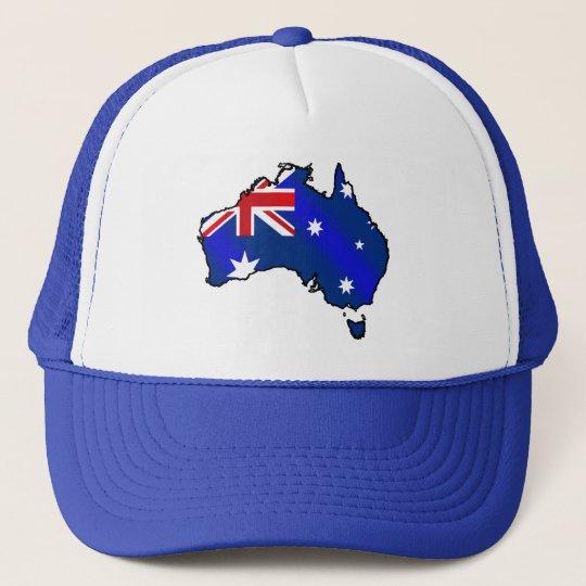 Aussie Map flag of Australia Cap