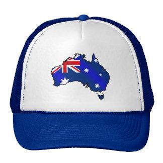 Aussie Map flag of Australia Cap Hat