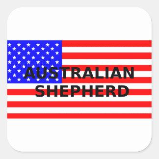 aussie name on flag square sticker