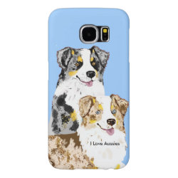 Case-Mate Barely There Samsung Galaxy S6 Case with Australian Shepherd Phone Cases design