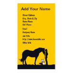 Aussie Pair Western Silhouette Double-Sided Standard Business Cards (Pack Of 100)