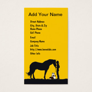 Aussie Pair Western Silhouette Business Card