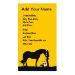 Aussie Pair Western Silhouette Business Cards