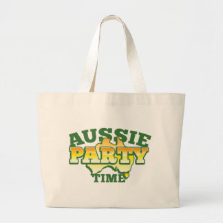 Aussie PARTY TIME! Large Tote Bag