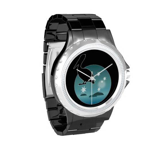 Aussie Pelican Icon eWatchFactory Rhinestone Watch