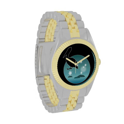 Aussie Pelican Icon Two Tone Watch