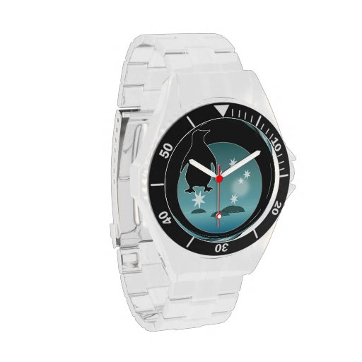 Aussie Penguin Icon Classic Stainless Steel Watch