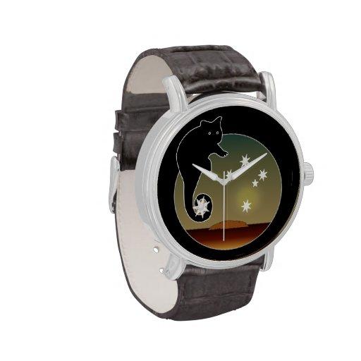 Aussie Possum Icon Vintage Leather Strap Watch