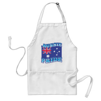 AUSSIE PRIDE with an Australian Flag Aprons