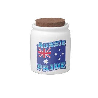 AUSSIE PRIDE with an Australian Flag Candy Jars