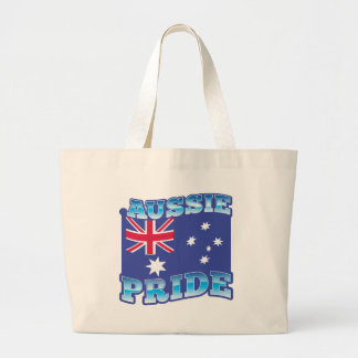 AUSSIE PRIDE with an Australian Flag Large Tote Bag