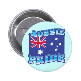 AUSSIE PRIDE with an Australian Flag Pinback Button