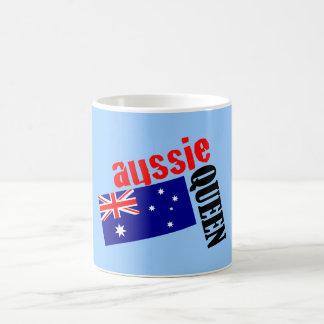 Aussie Queen & Flag Coffee Mug