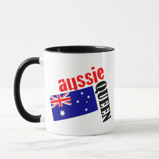Aussie Queen & Flag Mug