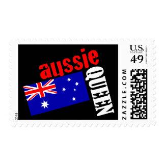 Aussie Queen & Flag Postage