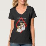 Aussie Red Merle Pair on Diamond Design T Shirt