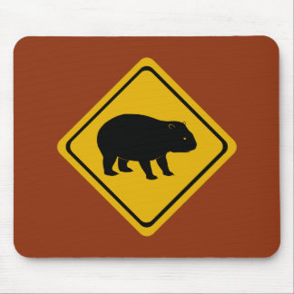 Aussie road sign - wombat -electronics mouse pad