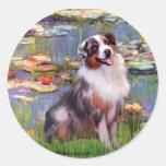 Aussie Shep 1 - Lilies #2 Classic Round Sticker