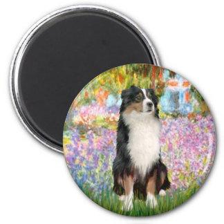 Aussie Shep 2 - Garden 2 Inch Round Magnet