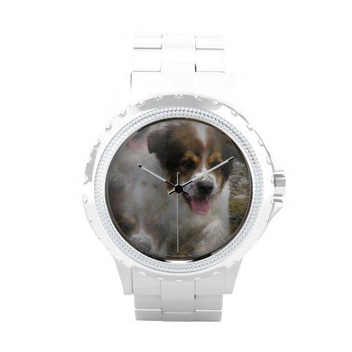 Aussie Shepherd Puppy Wrist Watches