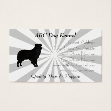 Professional Business Aussie Silhouette Grey and White Pinwheel Business Card