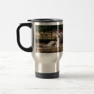Aussie Style Christmas Kangaroos Travel Mug
